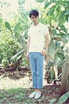 Zara shoes - Lacoste t-shirt - Bershka pants