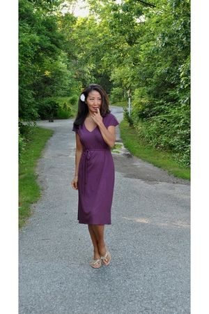 purple marsilia dress