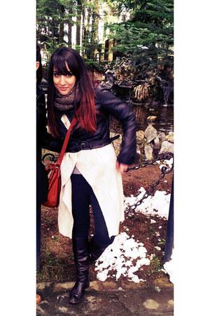 bershka jacket - random boots - zara sweater - bershka leggings