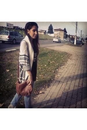 zara sweater - zara shirt - hm purse - bershka belt