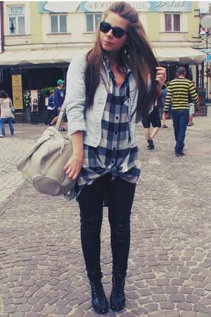 black leggings - heather gray bag