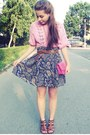 Bubble-gum-purse-navy-skirt-bubble-gum-blouse