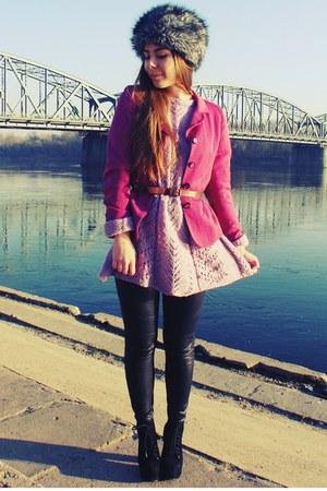 light pink sweater - bubble gum jacket