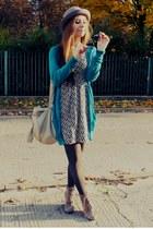 turquoise blue cardigan