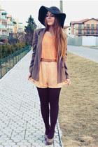 light orange shorts