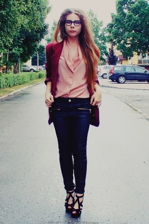 brick red blazer