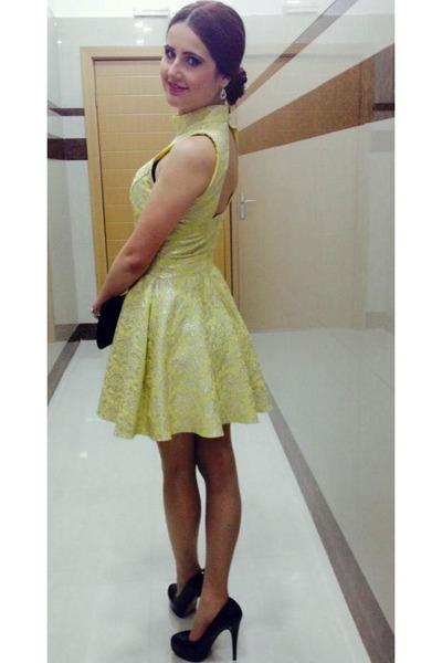 Miss Selfridge dress - heels - Diesel watch - earrings