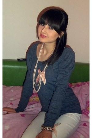 Accessorize necklace - jeans - Accessorize bracelet - blouse
