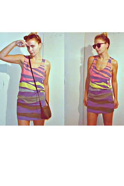 Topshop dress - vintage sunglasses