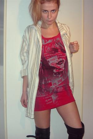 vintage blazer - Zara t-shirt