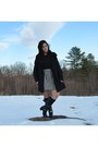 Black-studded-forever-21-boots-black-peacoat-thrifted-coat-black-blouse