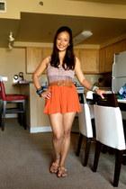 carrot orange pleats orange Greenhills Mall shorts