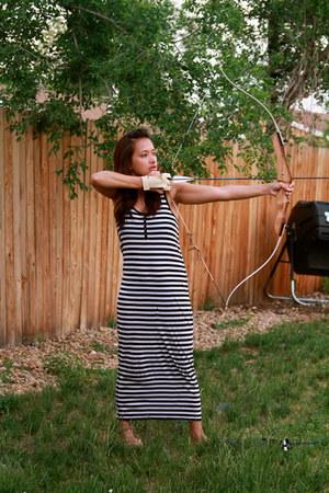 black stripes Target dress - white bow and arrow polaris accessories