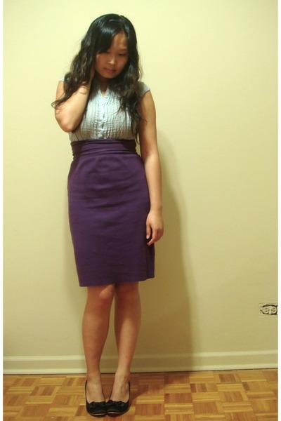 H&M blouse - American Apparel skirt - taiwan shoes