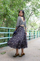 navy high-waisted vintage skirt - navy from Argentina bag