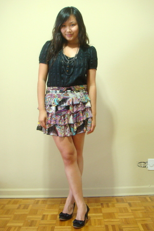 forever 21 skirt - Urban Outfitters shirt - taiwan shoes