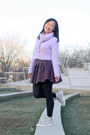 Light-purple-cropped-banana-baby-sweater-light-purple-nike-sneakers