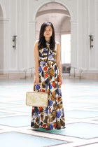 neutral vintage bag - white Ranna Gill dress