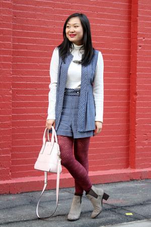 white playsuit vintage romper - heather gray ankle boots Pour La Victoire boots