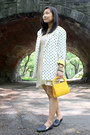 Off-white-urban-outfitters-dress-white-polka-dot-vintage-blazer