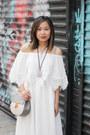 White-sammydress-dress-peach-shoulder-bag-chloe-bag