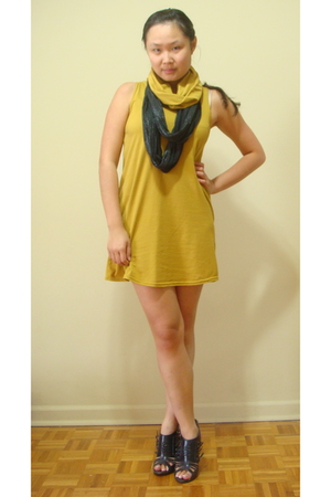 American Apparel dress - Urban Outfitters scarf - Ebay shoes