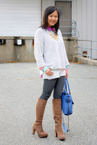 white denim shorts Car Mar shorts - light brown platforms nice claup boots