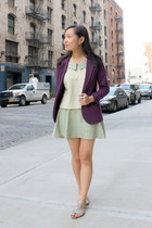 purple Urban Outfitters blazer - off white from singapore top