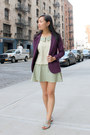 Purple-urban-outfitters-blazer-chartreuse-from-singapore-skirt