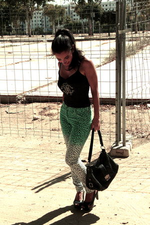 H&M jeans - gianfranco ferre bag - roberto cavalli t-shirt