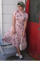 light pink vintage 50s dress