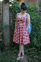 coral Nooworks dress