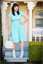 aquamarine Shabby Apple dress - light pink vintage hat