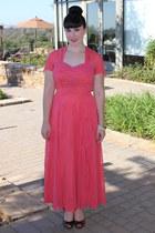 salmon vintage 40s dress