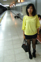 aa shorts - unknown tights - Converse shoes