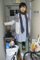 Lees jeans - Ehka Sopo sweater - Ehka Sopo blouse - Repetto shoes - H&M scarf