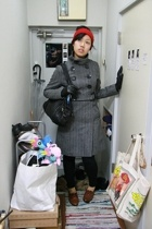 made by me accessories - soia & kyo coat - aa tights - shoes - Marc by Marc Jaco
