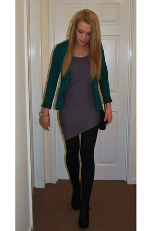 silver Vila dress - green Primark jacket