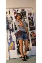 H&M shirt - Zara shorts - Nine West shoes - forever 21 belt - Thrift Store purse