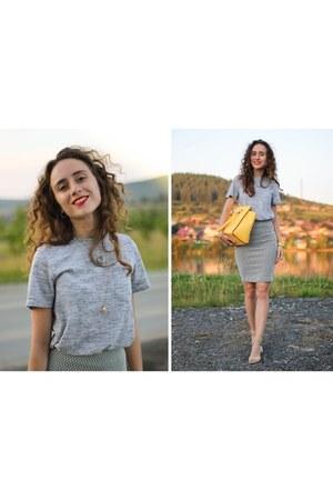 heather gray pull&bear skirt
