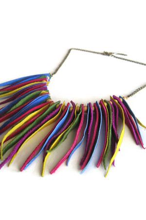 fringedleather maslinda necklace