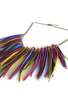 fringedleather maslinda necklace
