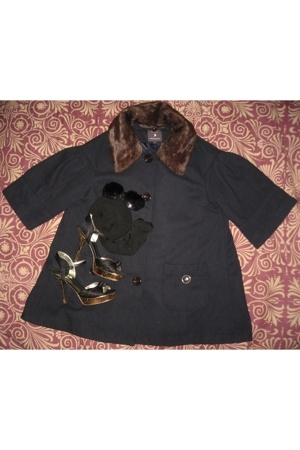 Forever21 coat - Mossimo glasses - Betsey Johnson tights - guess by marciano sho