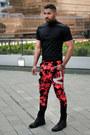 Black-aldo-boots-black-zara-shirt