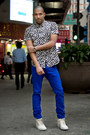 Blue-colored-jeans-h-m-jeans-white-21-men-shirt