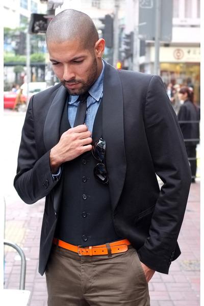 black smoker jacket Jeans Paul Gaultier jacket
