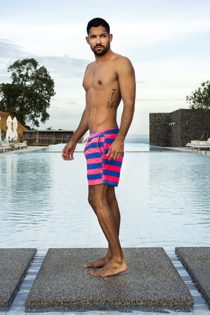 hot pink Scotch & Soda swimwear