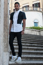 Black-skinny-jeans-acne-jeans-white-neil-barrett-shirt