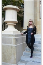 purple Mossimo shoes - green Charlotte Russe dress - black Worthington tights -