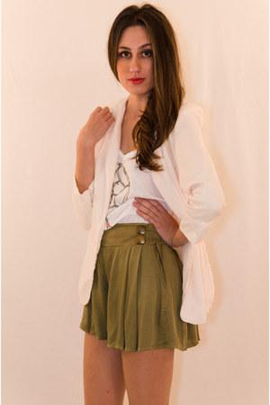 olive green rayon IIKOY shorts